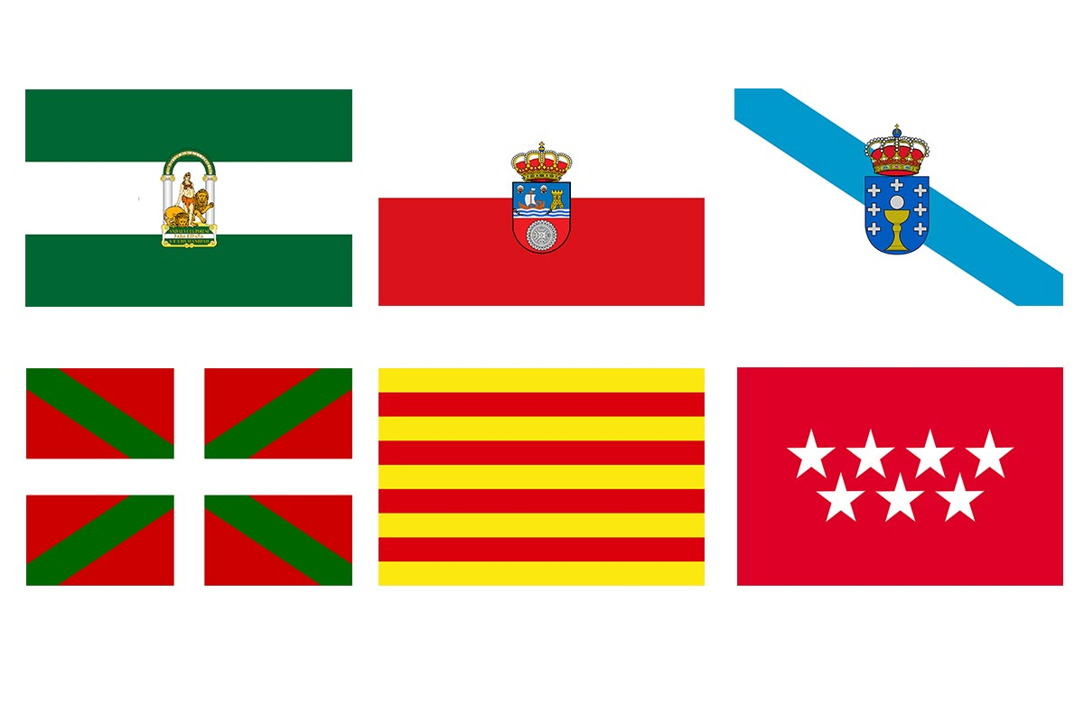 spain regions flags