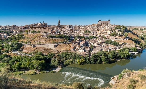 Toledo on the banks of the River Tagus